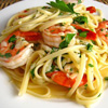 Chicken and Shrimp Francese w/Linguini